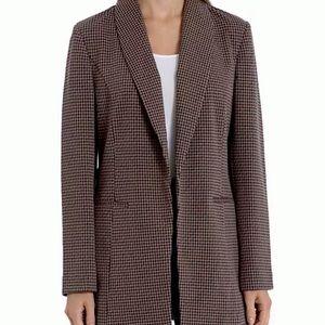 Bagatelle Plaid Shawl-Collar Blazer Oversized